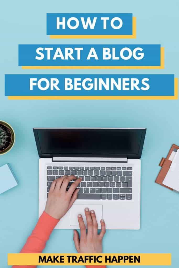 Wondering how to succesfully start a blog? Make Traffic Happen teaches you how do so in 10 easy steps. From plugins to Pinterest, our free guide holds your hand so you can blog successfully from the start! Click to find out more.