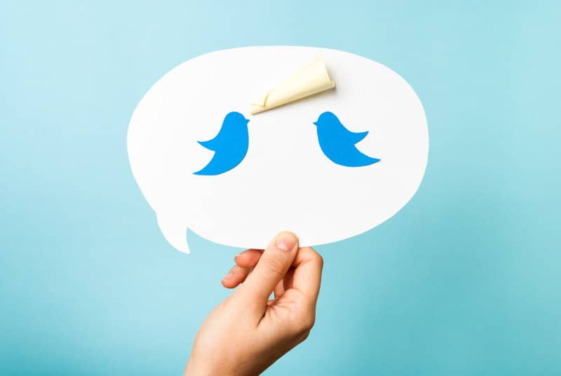 Twitter for bloggers, Twitter bird in speech bubble