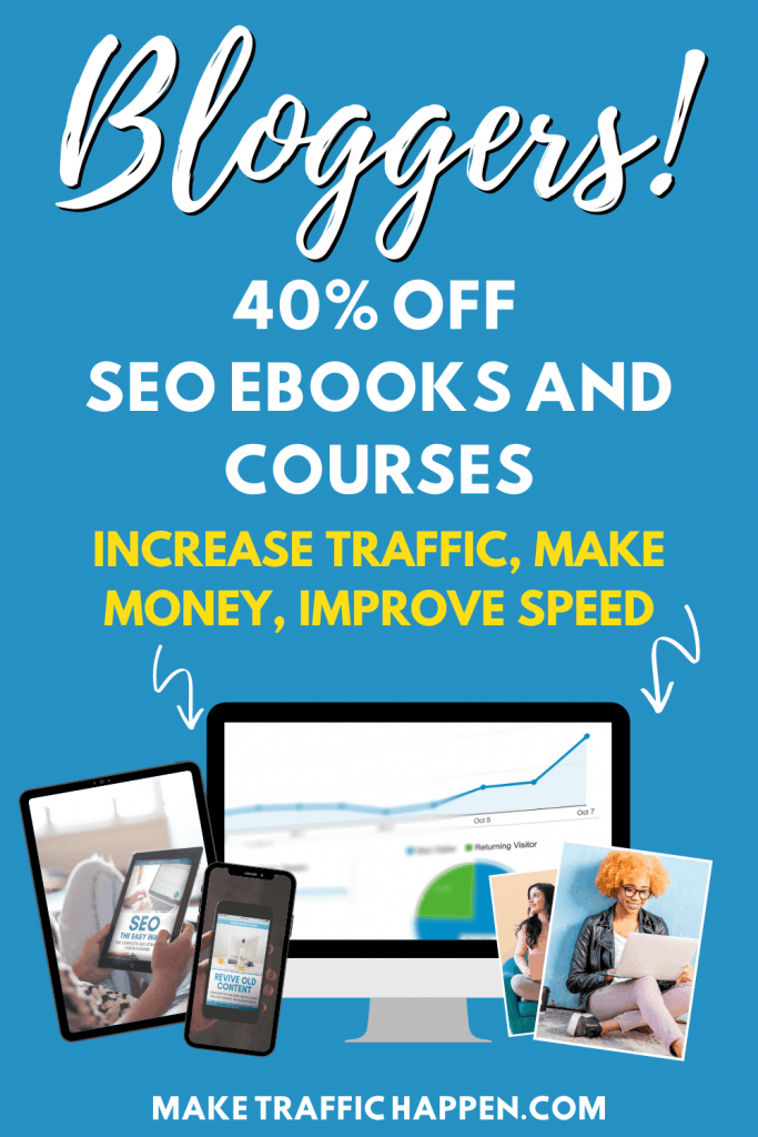 Black Friday discount deal of SEO courses for bloggers.