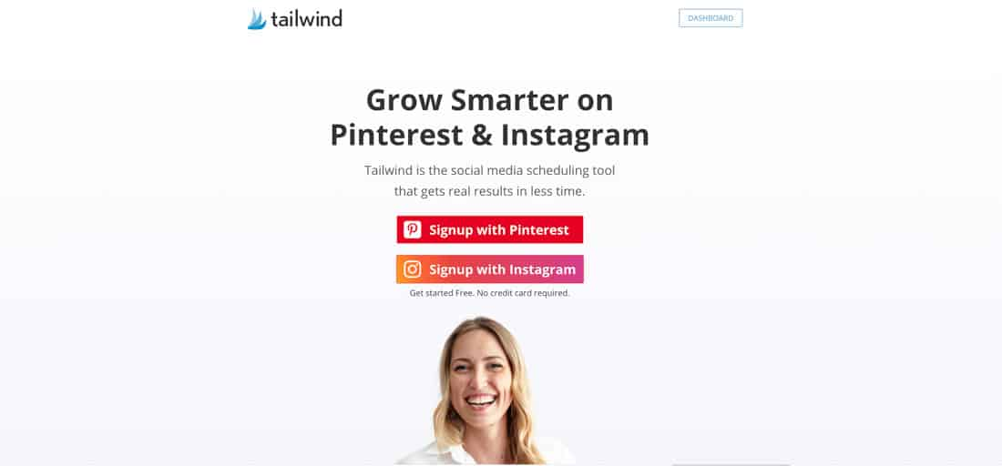 Pinterest Tailwind Sign Up
