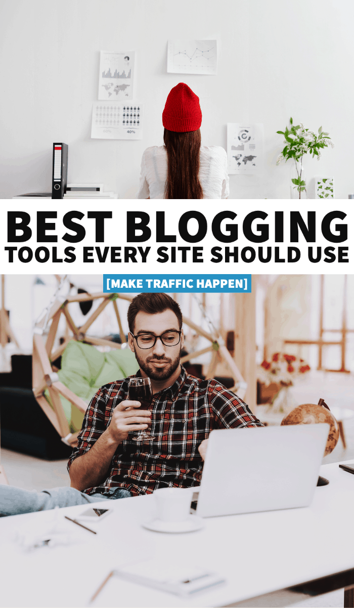 blogging tools, best blogging tools, blogging host, choosing a host, SEO, keyword research, increase traffic, blogging essentials, tailwind, Pinterest, social media, plugins, themes