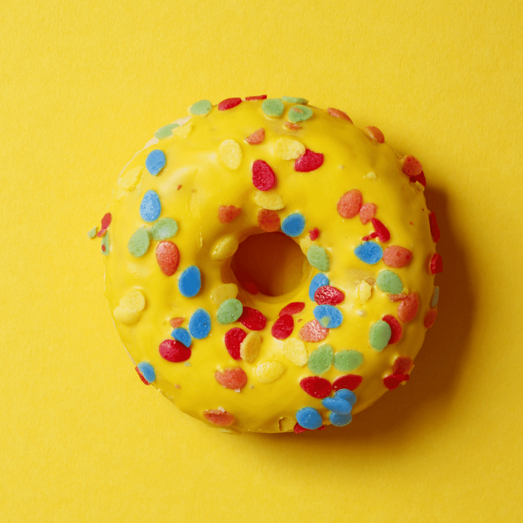 Donut Yellow Background